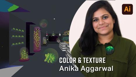 Color & Texture in Adobe Illustrator for Jack Watson's Space Garden DTIYS