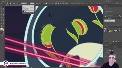 Space Garden DTIYS in Illustrator on the iPad, Part 5