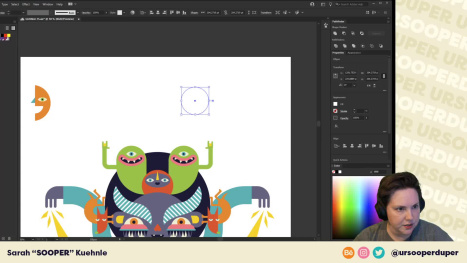 A little fun character creation with Adobe Illustrator