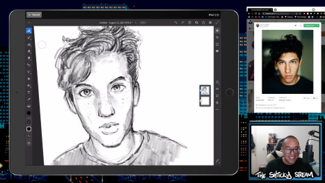 The Mon Stream; Digital Drawing and Painting w/ an Ipad Pro