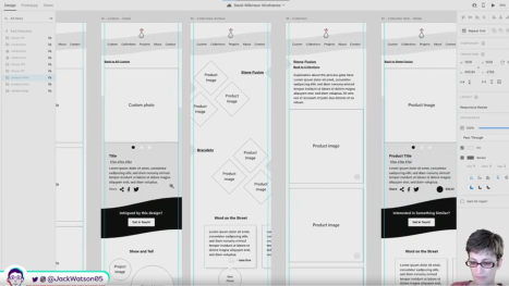 David Wilkinson Website Wireframes in Adobe XD Part 2