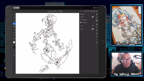 The Thurs Stream; Digital Drawing and Inking on an Ipad Pro