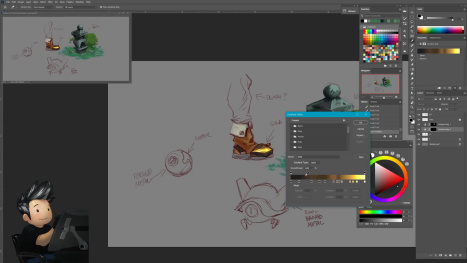Quick stream about gradient Maps