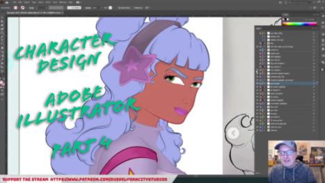 Adobe Illustrator: Character Design! PART 4