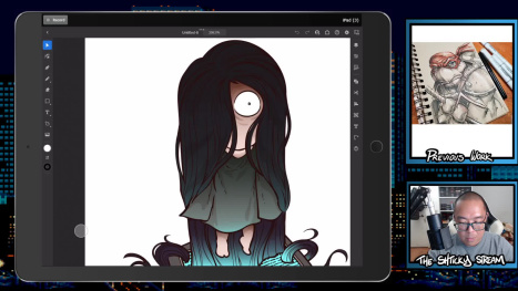 The Thurs Stream; Digital Drawing and Coloring on an Ipad Pro
