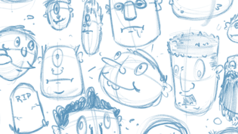 Making shapes and Rough sketching.