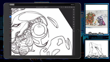 The Mon Stream; Digital Inking and Coloring on Ipad
