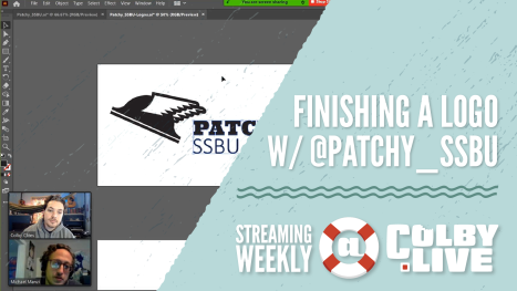 Colby.LIVE | Finishing a Logo with @Patchy_SSBU