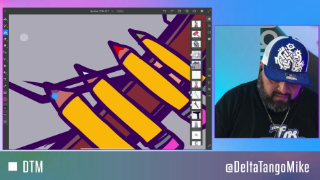 catching up with drawing an NFT Art for @SkullySeries with #AdobeFresco Vector Brushes