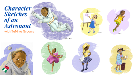 Exploring Children's Illustration -  A Character Sketch of an Astronaut