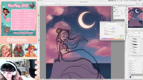 Moon Mermaid | #MerMay Stream with Erika Wiseman