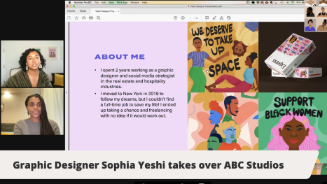 Graphic Designer Sophia Yeshi, and special guests Amika Cooper, Temi Coker and Lo Harris take over ABC Studios