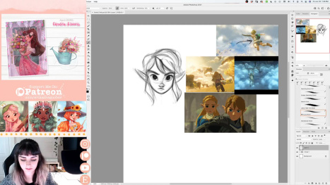 Drawing Breath of the Wild 2 Fanart | Livestreaming with Erika Wiseman