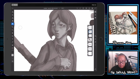 The Mon Stream; Digital Drawing and Painting on an Ipad Pro