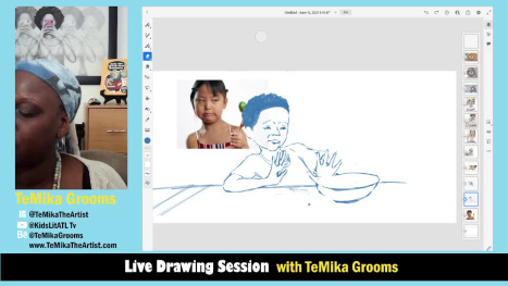 Children's Illustration - A talk about Food