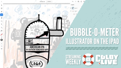 Colby.LIVE | Bubble-O-Meter using Illustrator on the IPad