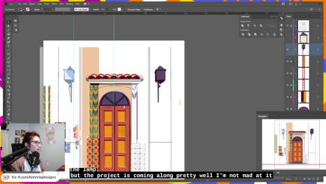 Door Frame Work in Illustrator