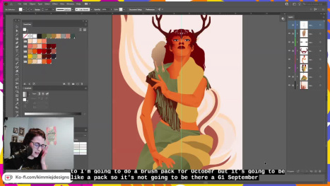 Come Hang out! Wildling Part 2 in Illustrator
