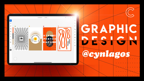 Graphic Design Session with Illustrator on the iPad