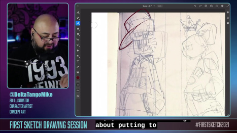 #DigitalDrawingwDTM and #AdobeFresco Character Illustration #SkateLife