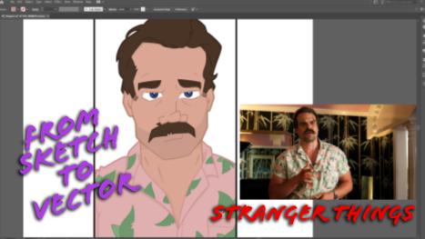Stranger Things Hopper: From Sketch To Vector