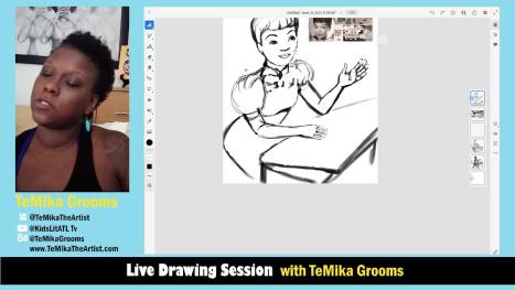 Sketching Jackie Ormes - African American Woman Cartoonist with TeMika Grooms