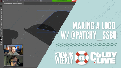 Colby.LIVE | Making a Logo with @Patchy_SSBU