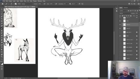 Chillin' With Gordon - Wolf Shaman Illustration Pt.2