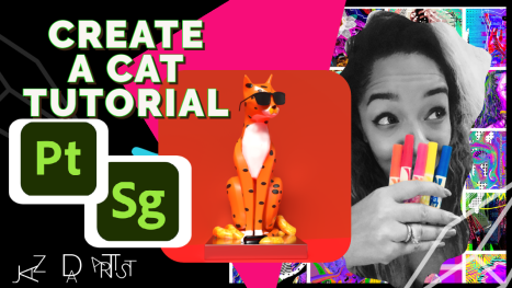 Create-A-Cat! Adobe Substance Painter and Stager