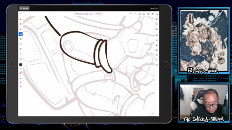 The Mon Stream; Digital Sketching and Inking on Ipad