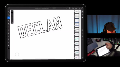 Hand Lettering in Adobe Fresco on an iPad