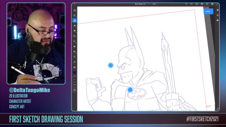 Special Character Concept Art on Adobe Fresco w @DeltaTangoMike