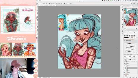 Drawing @heymaryjean's DTIYS Challenge | Livestream with Erika Wiseman