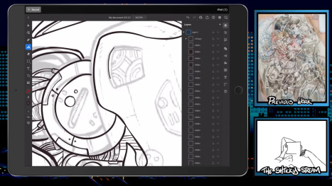 The Mon Stream; Digital Inking and Drawing on Ipad Pro