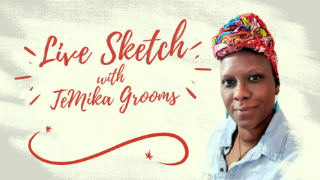 Jackie Ormes Cartoonist Drawing Part 2 - Line Work with TeMika Grooms