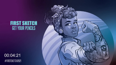 #FirstSketch Drawing Sessions, Monday we draw with @SketchableApp on @Surface Pro