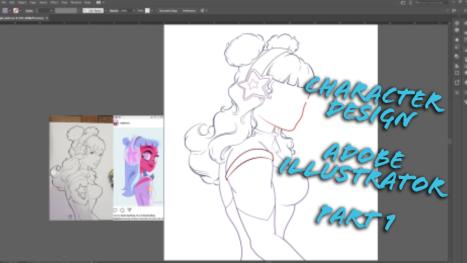 Adobe Illustrator: Character Design! PART 1