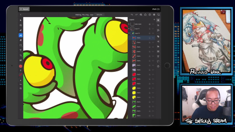 The Thur Stream; Digital Drawing and Paining on an Ipad Pro
