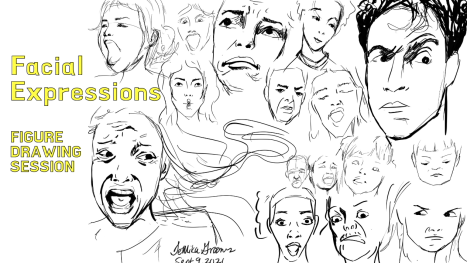 Figure Drawing Session - Facial Expressions