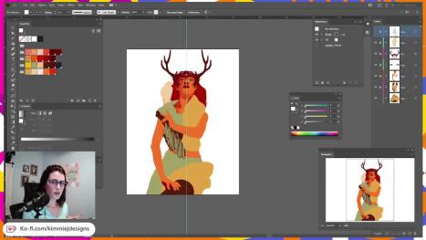 The Wildling Illustration in Adobe Illustrator