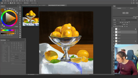 Still life painting in Photoshop with Maddy Bellwoar