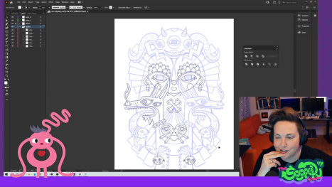 Vector night! Taking a sketch from Fresco and outline vector fun in Illustrator