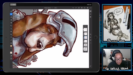 The Thurs Stream; Digital Coloring and Painting in Fresco!
