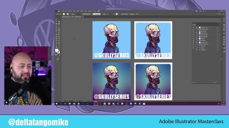 #NFTArt on Stickers with #AdobeFresco and #IllustratoroniPad w DTM