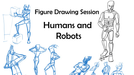 Figure Drawing Session - Humans and Robots