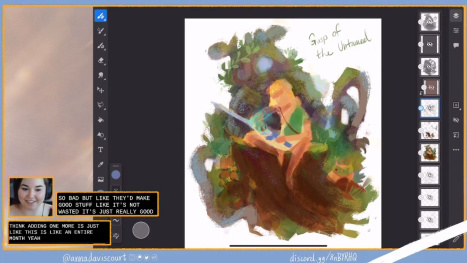 Painting BOTW2 Fanart with Anna Daviscourt and Anthony Simms
