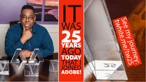 Join us to celebrate Terry White's 25th @Adobe Work Anniversary!
