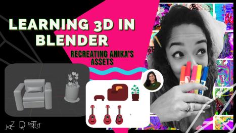 Exploring & Learning Blender: Making Anika's Illustrator Assets