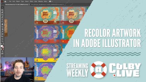 Colby.LIVE | Recolor Artwork in Adobe Illustrator