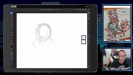 The Thurs Stream; Digital Doodling in Fresco!